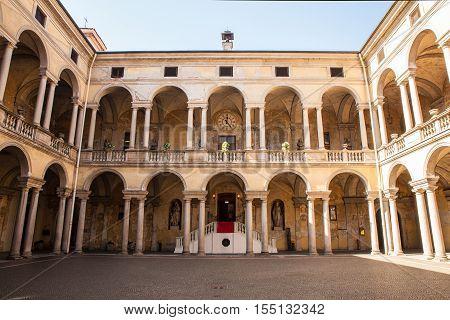 View of the yard of the Hospital Maggiore della Carità in Novara