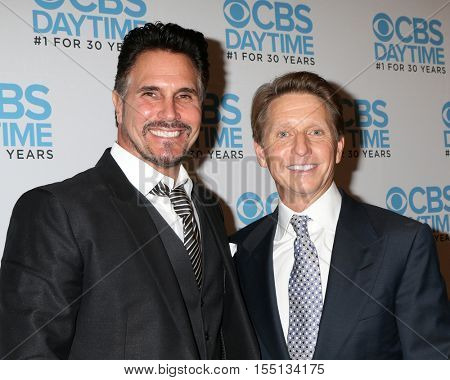 LOS ANGELES - NOV 3:  Don Diamont, Bradley Bell at the The Bold and the Beautiful