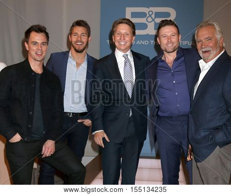 LOS ANGELES - NOV 3:  Darin Brooks, Scott Clifton, Bradley Bell, Jacob Young, John McCook at the BnB Celebrates CBS #1 for 30 Years at Paley on November 3, 2016 in Beverly Hills, CA