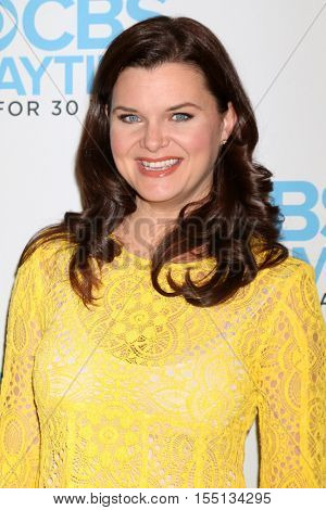LOS ANGELES - NOV 3:  Heather Tom at the The Bold and the Beautiful