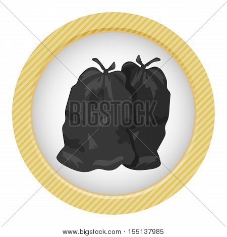 Garbage Bags Vector Illustration