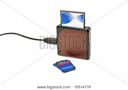 card-reader isolated on a white