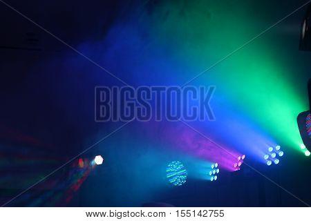 Laser illumination / Stage lights and smoke