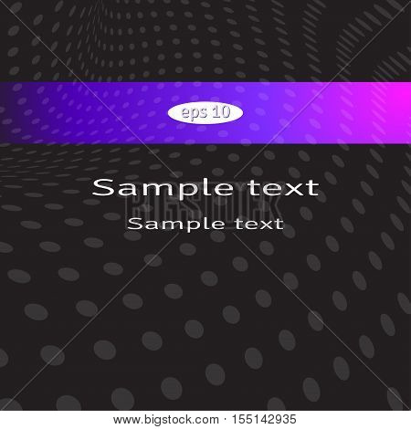 Abstract vector dark background with small dots.