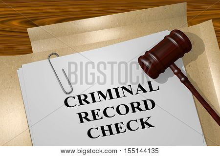 Criminal Record Check Concept