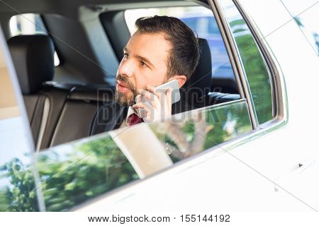 Important Businessman Talking On The Phone