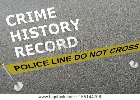 Crime History Record Concept