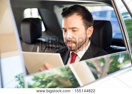 Reading The News While Riding A Car