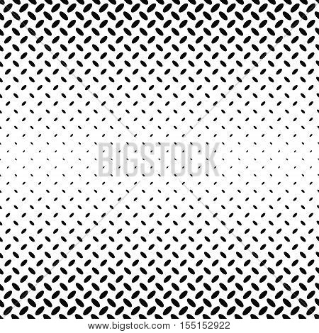 Abstract monochrome diagonal ellipse pattern background - vector illustration