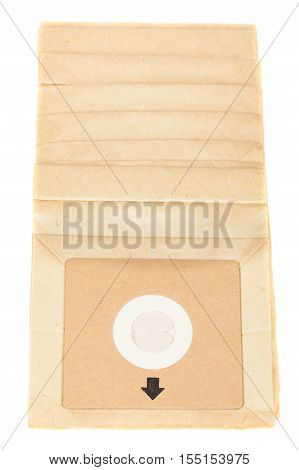 Garbage Bag For A Vacuum Cleaner Isolated On White Background.