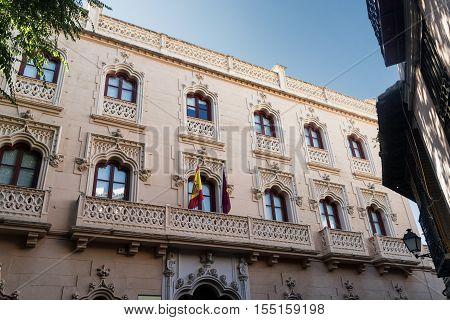 Toledo (Castilla-La Mancha Spain): historic palace in San Agustin square hosting the Tesoreria General Seguridad Social