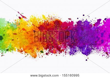 Abstract artistic multi colour watercolor splash background