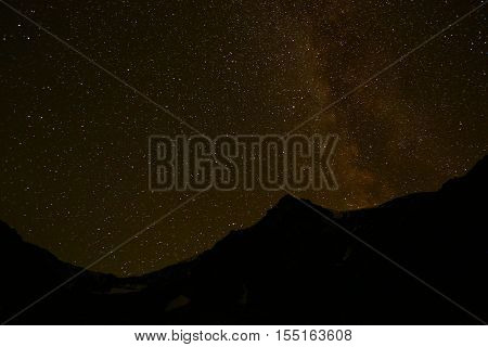 Nature, landscape, mountain landscape, landscape, night, NEBL, night sky, starry sky, stars, types, time, mountains