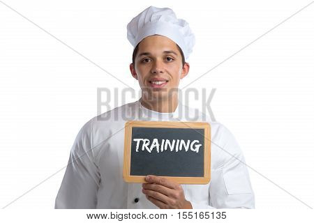 Training Cook Apprentice Trainee Cooking Job Young Isolated