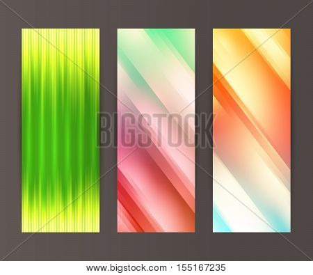 Vertical Banner Set Design Element Background Glow Abstract Shape23