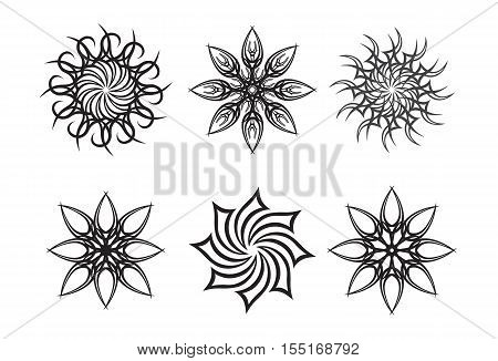 Tribal sun artwork collection - tattoo vector