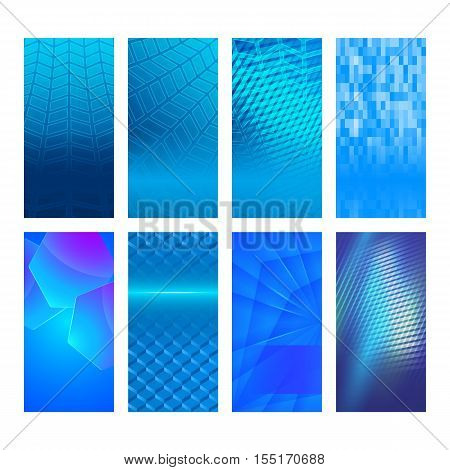 Vertical Banner Set Design Element Background Glow Abstract Shape30