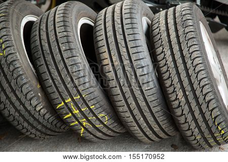 Winter tire change store summer tire background