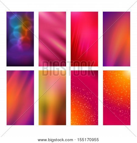 Vertical Banner Set Design Element Background Glow Abstract Shape32