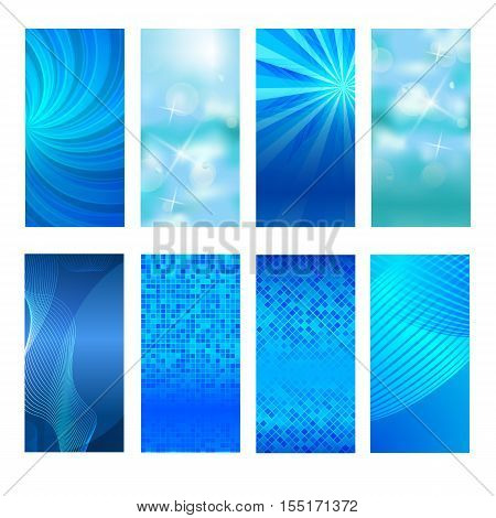 Vertical Banner Set Design Element Background Glow Abstract Shape34