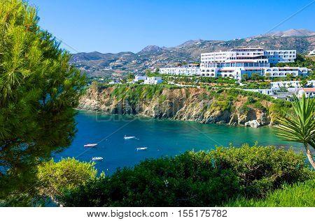 Greece Crete tourist facilities in Agia Pelagia bay