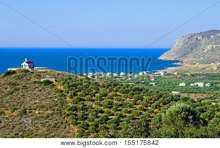 Greece Crete the valley and the bay of Sissi