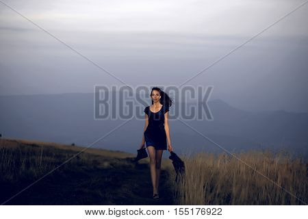 Girl On Natural Background