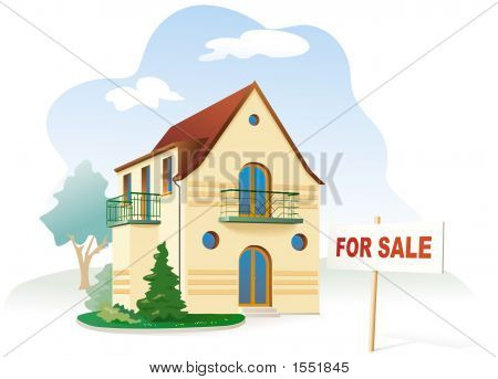 Real Estate For Sale. Vector