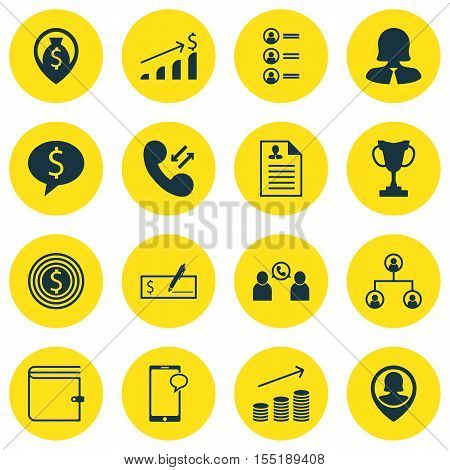 Set Of Hr Icons On Messaging, Phone Conference And Tree Structure Topics. Editable Vector Illustrati
