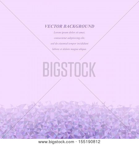 Purple abstract irregular triangle mosaic background design