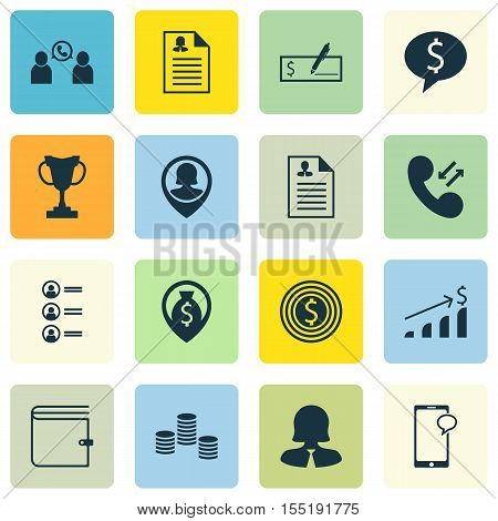 Set Of Human Resources Icons On Business Woman, Curriculum Vitae And Cellular Data Topics. Editable