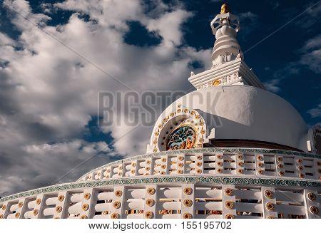 Shanti Stupa in Leh, Ladakh region, India