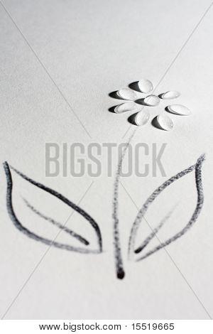 Water droplet flower