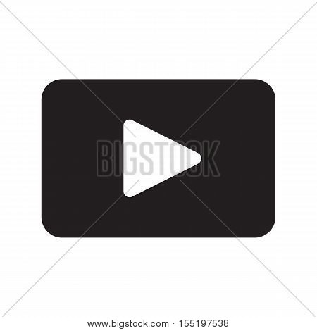 Icon of play button. Play media sign symbol