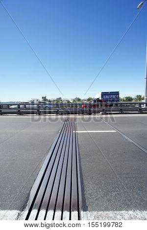 Nizhny Novgorod, Russia. - June 28.2016. Expansion Joint On Metro Bridge Across The Oka River.