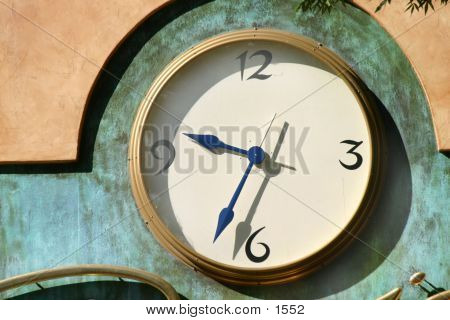 large wall clock, time, minutes, hours, seconds, ticking, poster