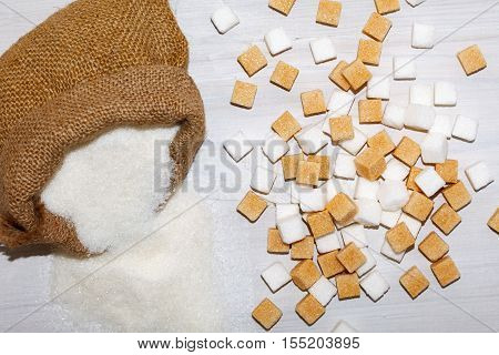 Unhealthy food ingredient. Sugar is not good for health.