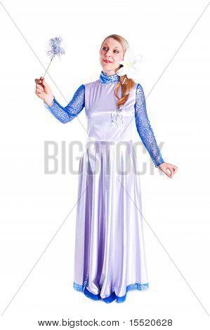 Girl Dressed As Magic Fairy
