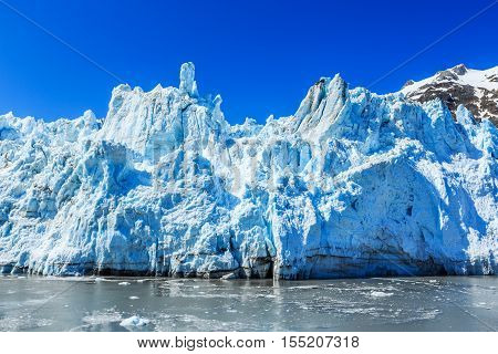 Margerie glacier in the Glacier Bay National Park Alaska