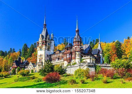 Peles in Muntenia region Romania. Sinaia Prahova county.