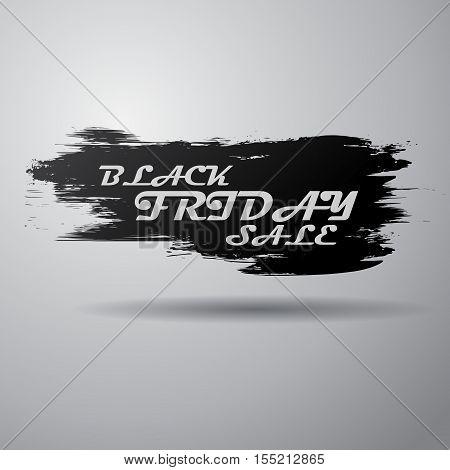 Black grunge splash with white sale text