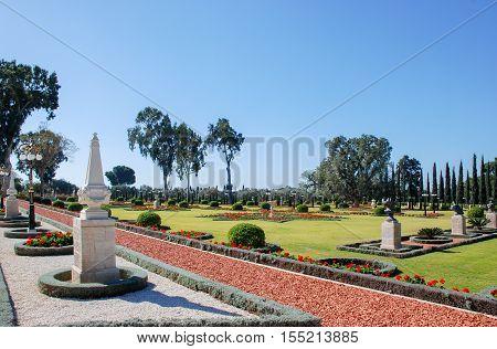 Garden Of Bahai World Centre. Acre, Israel