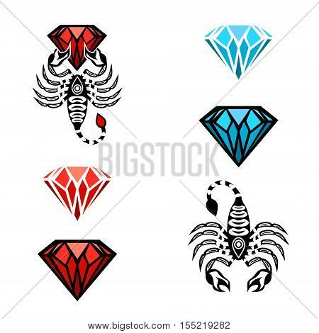 Collection of Scorpion and Diamond Logo Design