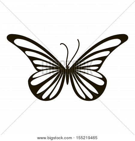 Moth butterfly icon. Simple illustration of moth butterfly vector icon for web