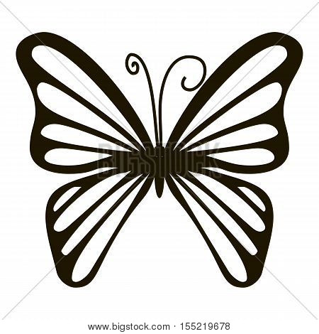 Rare butterfly icon. Simple illustration of rare butterfly vector icon for web