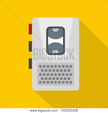 Dictaphone icon. Flat illustration of dictaphone vector icon for web
