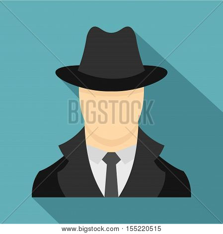 Spy icon. Flat illustration of spy vector icon for web