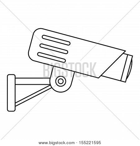 Security camera icon. Outline illustration of security camera vector icon for web