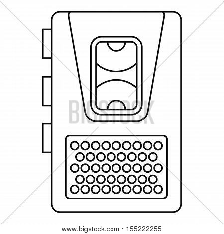 Dictaphone icon. Outline illustration of dictaphone vector icon for web