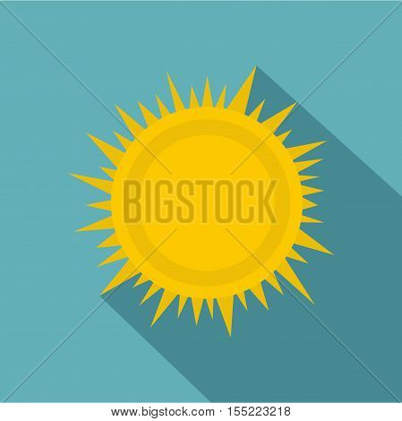 Sun icon. Flat illustration of sun vector icon for web